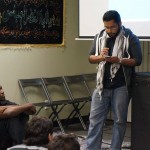 Student reciting poem at Al-Walayah center in L.A.