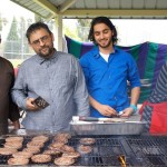 Grilling at the Los Angeles 'Eid Festival