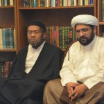 Sheikh Muhammad Baig and Sheikh Ali in Library discussion